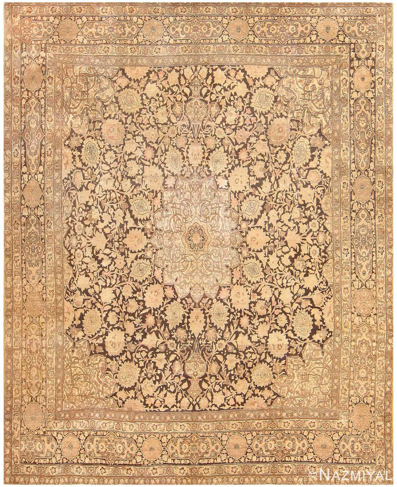 Antique Persian Tabriz Carpet 48273 Nazmiyal