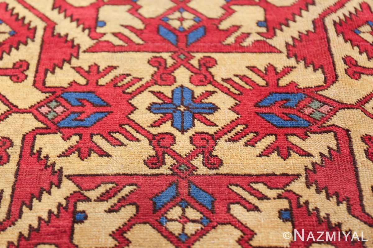 Antique Persian Tabriz Rug 48248 Blue Flower Nazmiyal