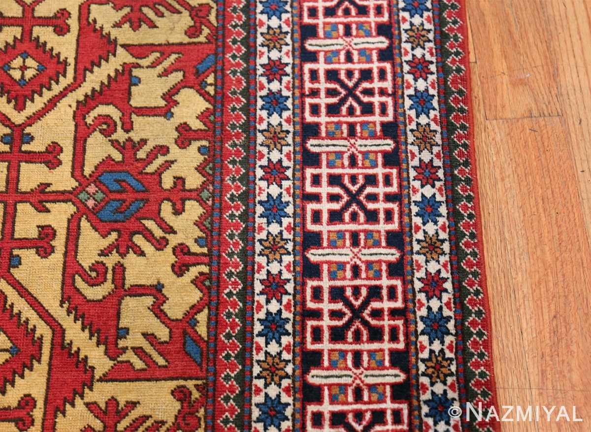 Antique Persian Tabriz Rug 48248 Border Nazmiyal