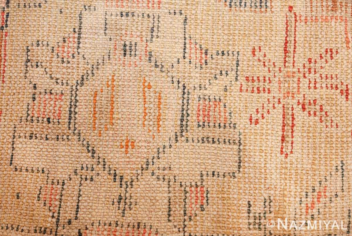 antique room size oushak turkish rug 48157 knots Nazmiyal