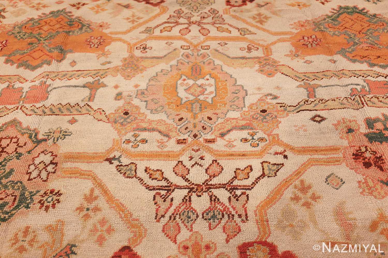 antique room size oushak turkish rug 48157 middle Nazmiyal