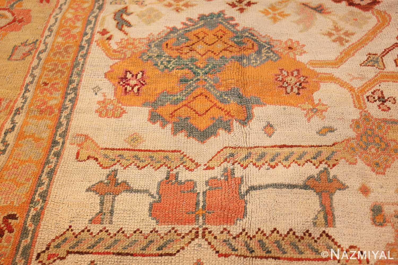 antique room size oushak turkish rug 48157 orange Nazmiyal