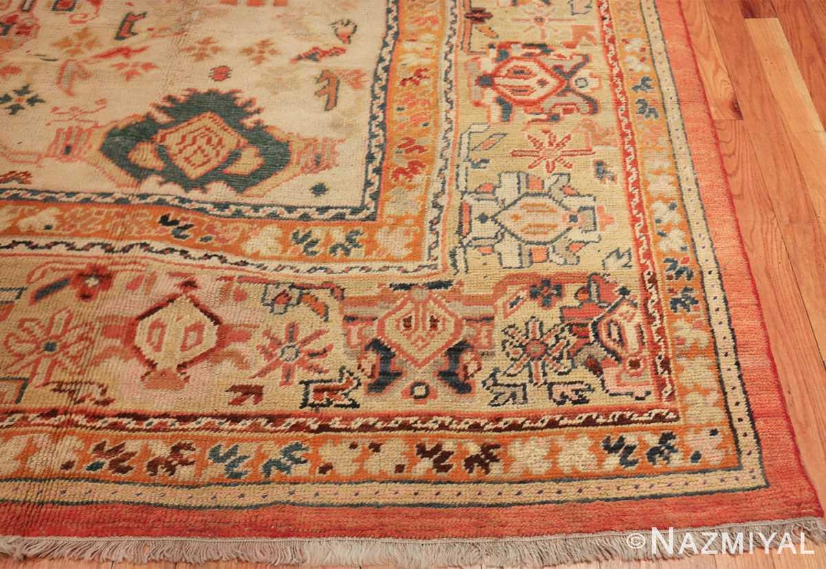 antique room size oushak turkish rug 48157 part Nazmiyal