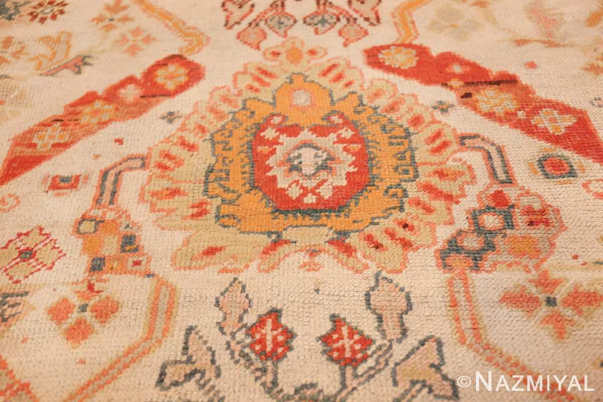 antique room size oushak turkish rug 48157 red Nazmiyal