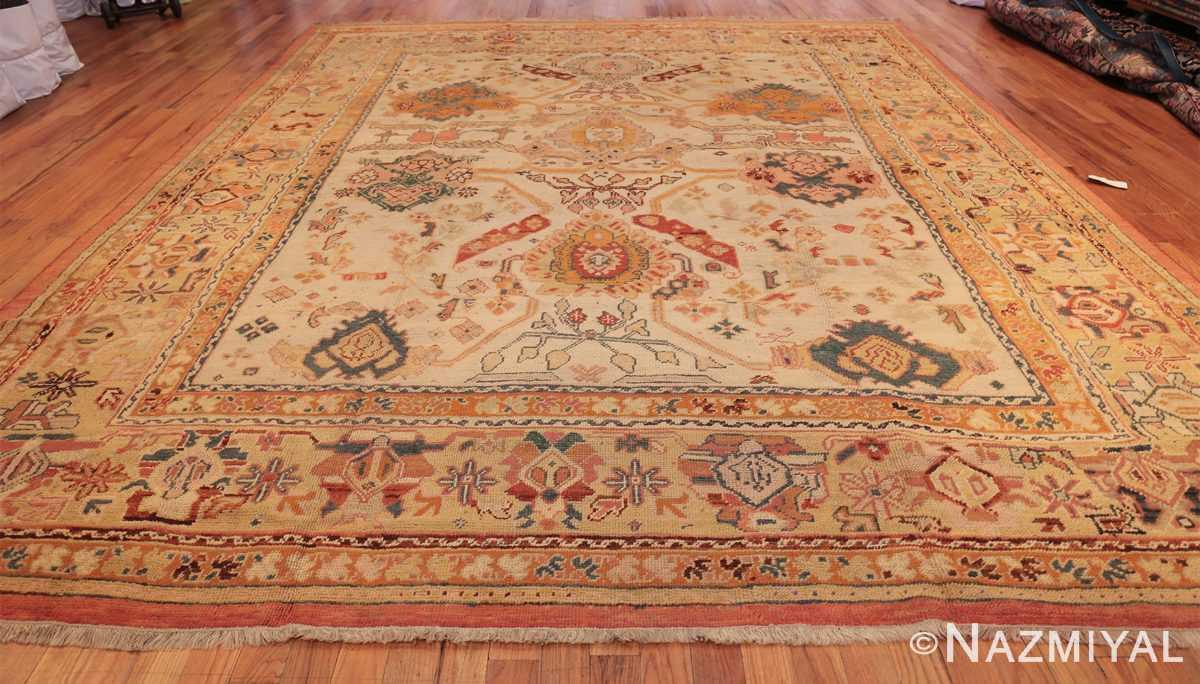 antique room size oushak turkish rug 48157 whole Nazmiyal