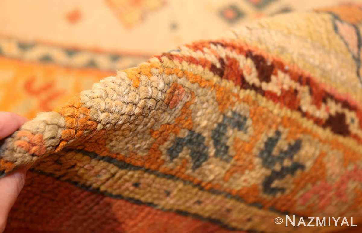 antique turkish oushak rug 48157 pile Nazmiyal