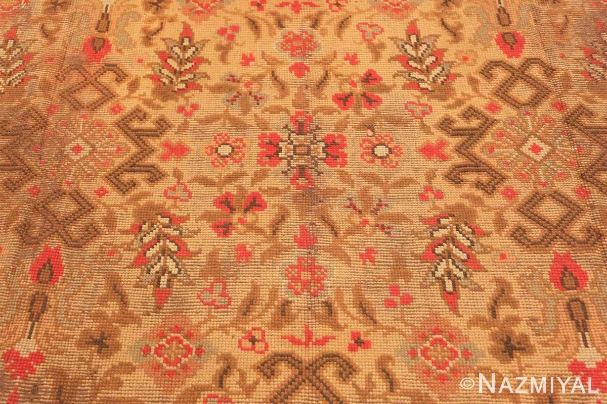 Background Large Shabby chic Antique Irish Donegal carpet 2688 by Nazmiyal