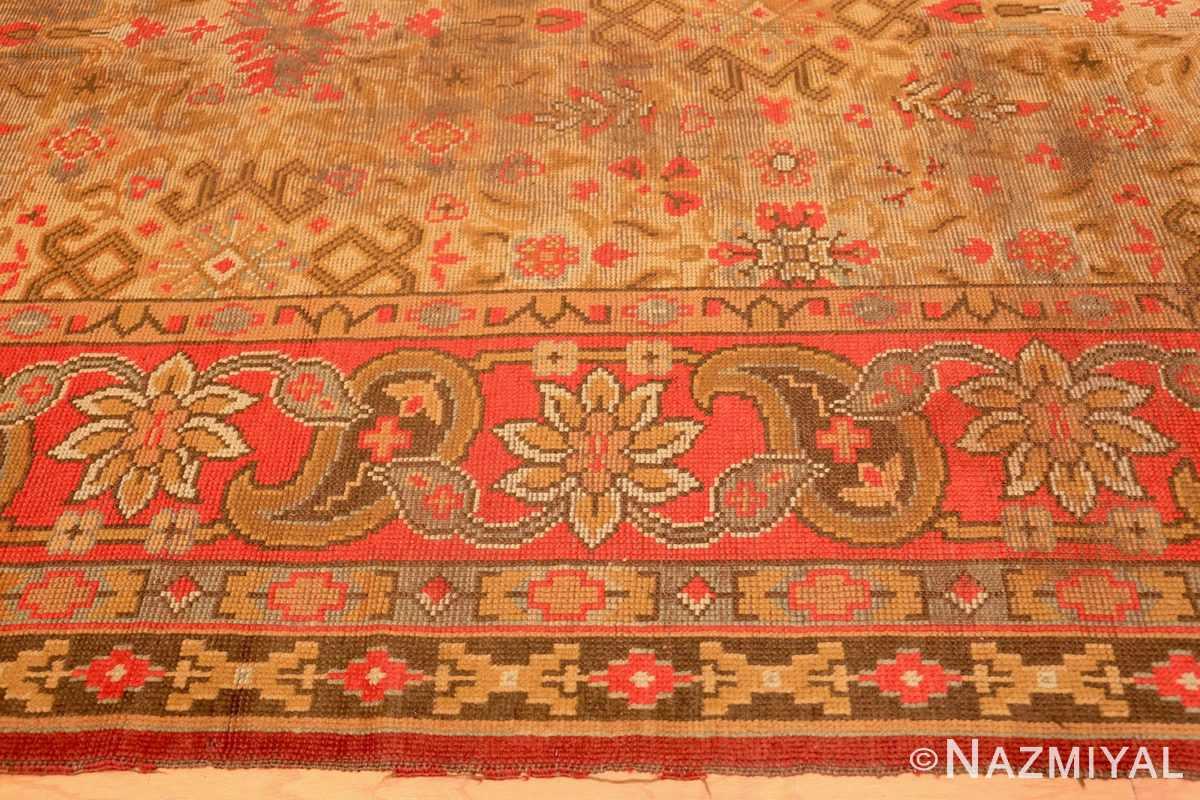 Border Large Shabby chic Antique Irish Donegal carpet 2688 by Nazmiyal