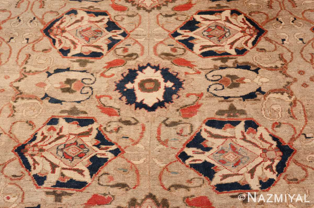 Close-up Antique Persian Sultanabad by Ziegler rug 48150 by Nazmiyal