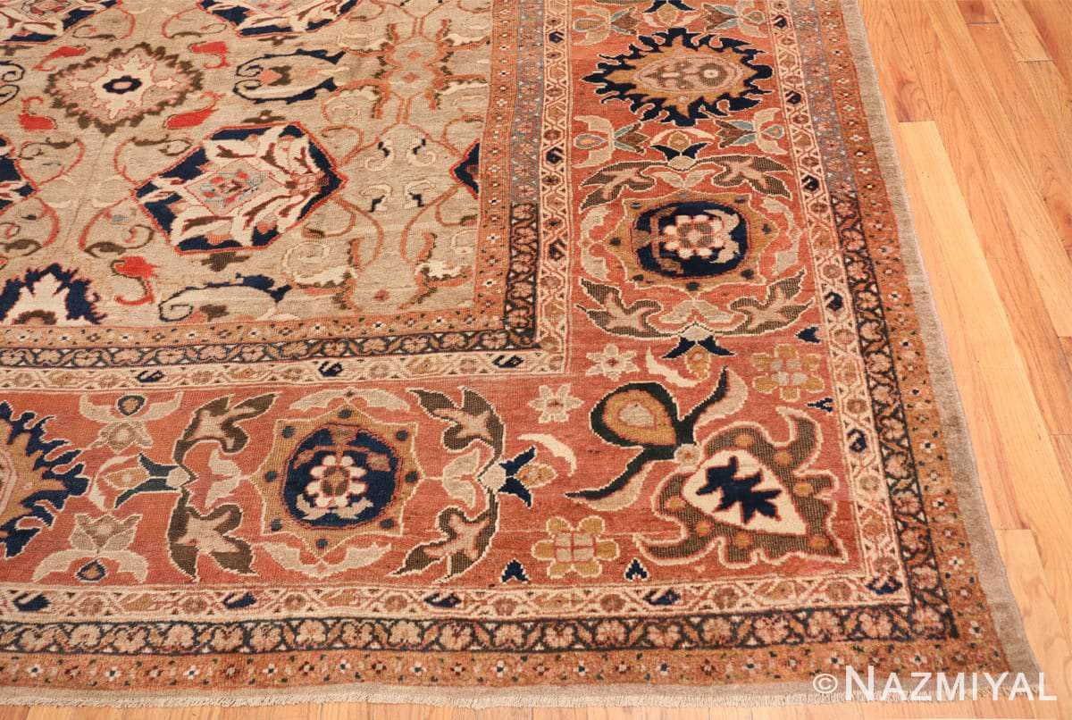 Corner Antique Persian Sultanabad by Ziegler rug 48150 by Nazmiyal