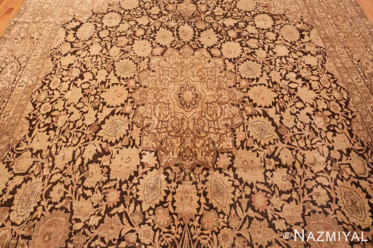 Field Antique brown Ardabil design Persian Tabriz carpet 48273 by Nazmiyal