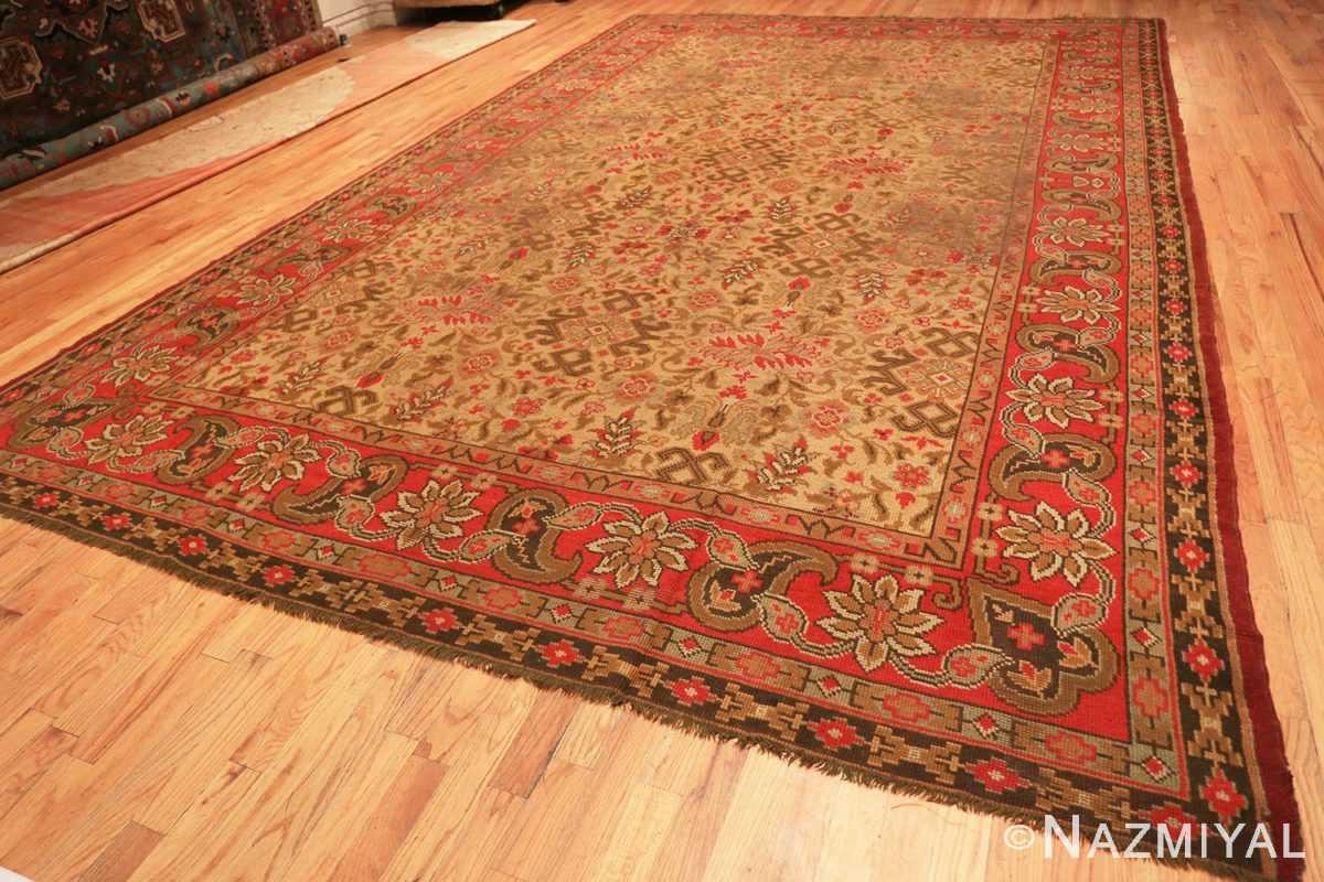 Full Large Shabby chic Antique Irish Donegal carpet 2688 by Nazmiyal