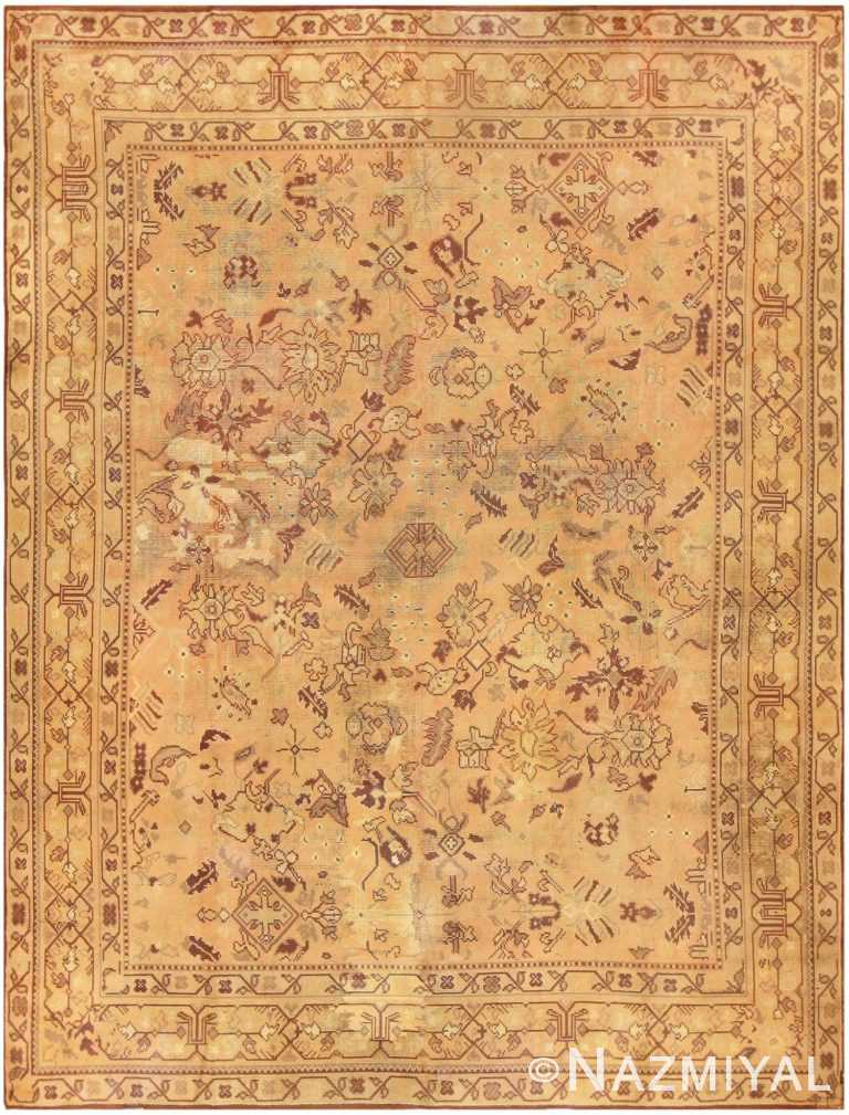 Large Antique English Carpet 1783 Detail/Large View