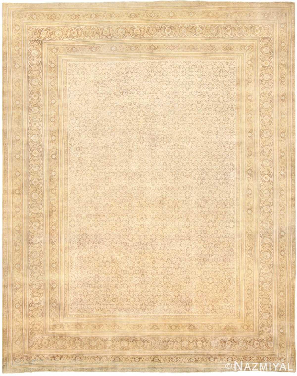 Large Antique Persian Tabriz Carpet 48211 Nazmiyal