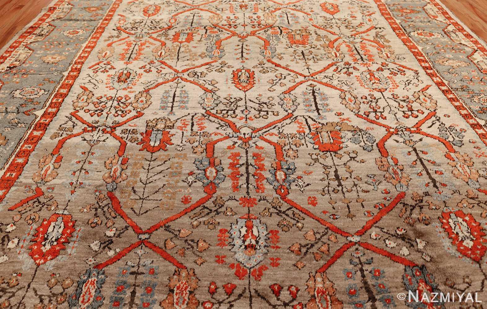 large antique turkish ghiordes carpet 48247 close Nazmiyal