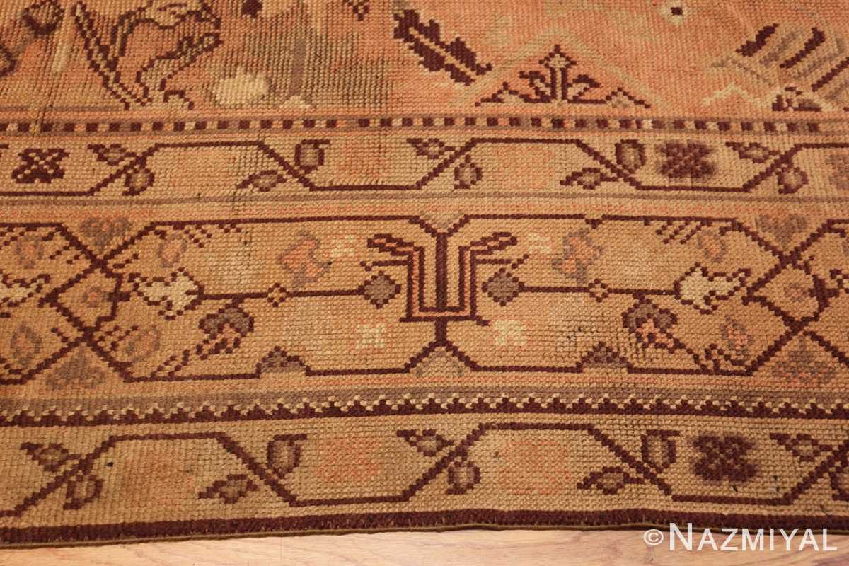 large shabby chic antique english carpet 1783 border Nazmiyal