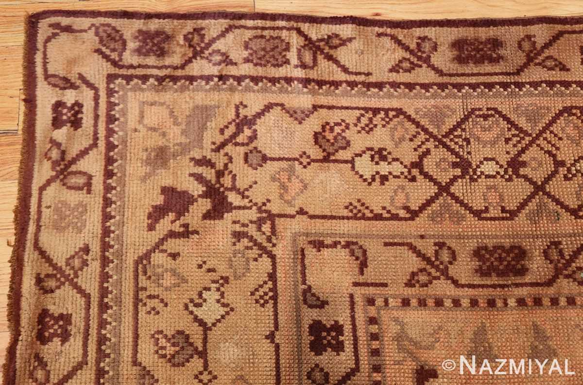 large shabby chic antique english carpet 1783 corner Nazmiyal