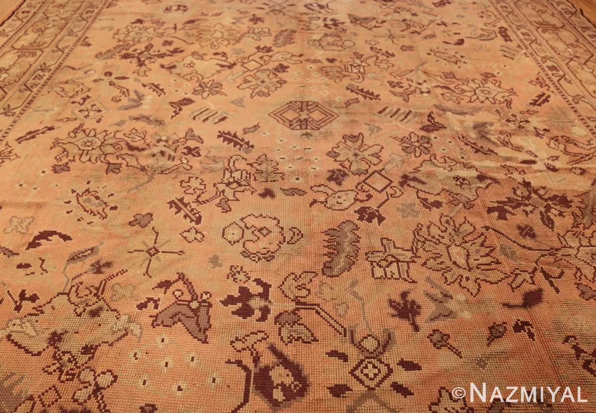large shabby chic antique english carpet 1783 field Nazmiyal