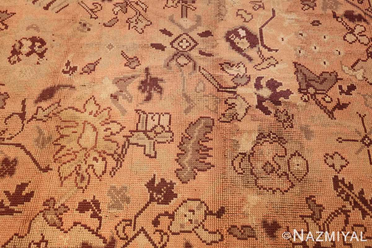 large shabby chic antique english carpet 1783 flower Nazmiyal