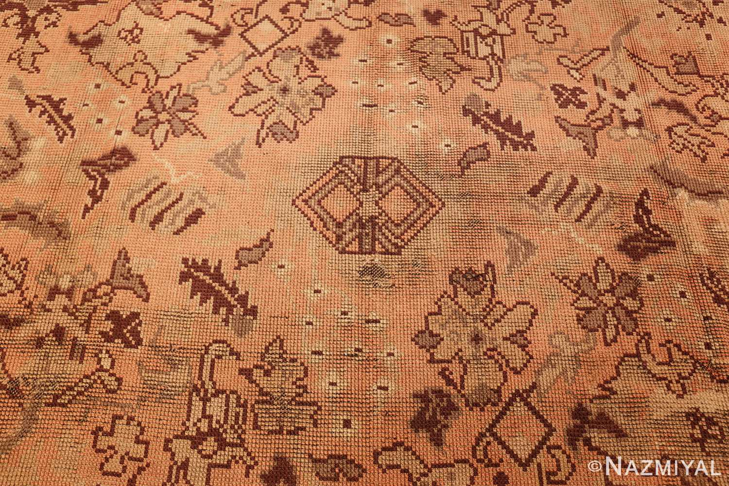 large shabby chic antique english carpet 1783 middle Nazmiyal