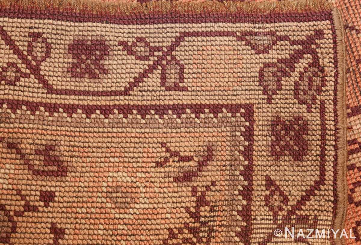 large shabby chic antique english carpet 1783 weave Nazmiyal