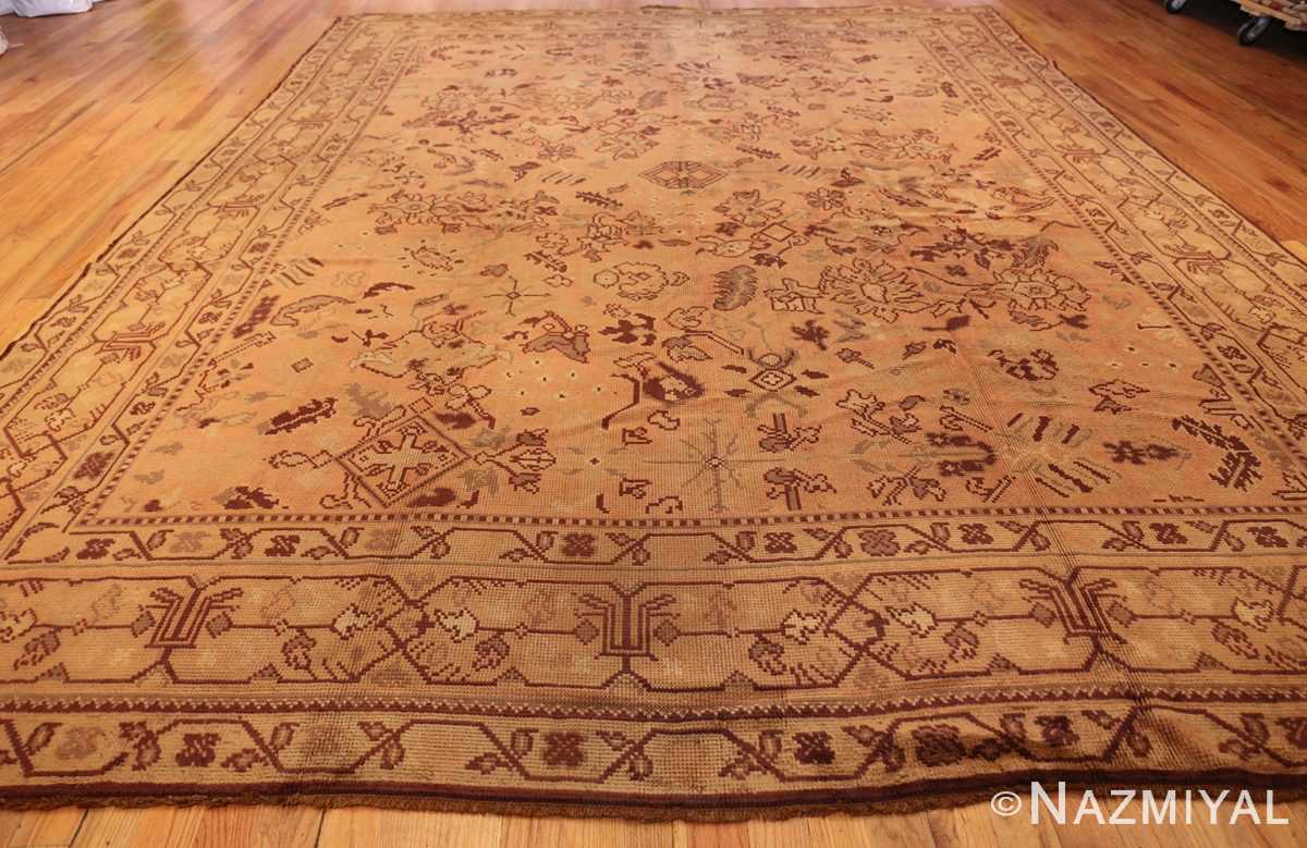 large shabby chic antique english carpet 1783 whole Nazmiyal