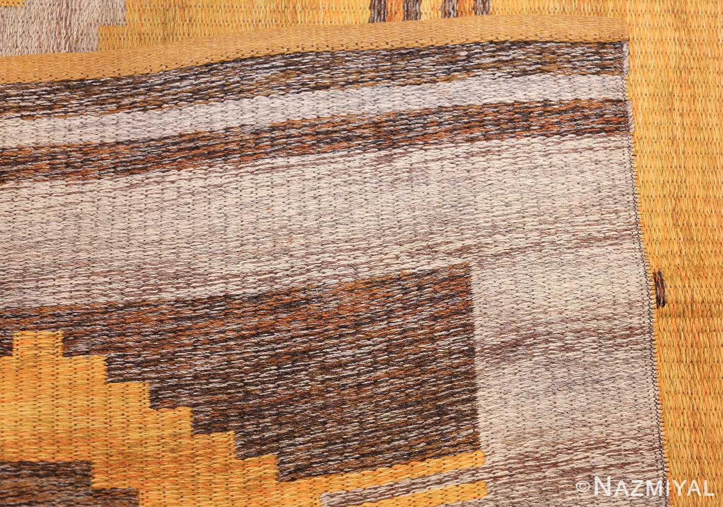 vintage double sided swedish kilim rug 48282 weave gray Nazmiyal