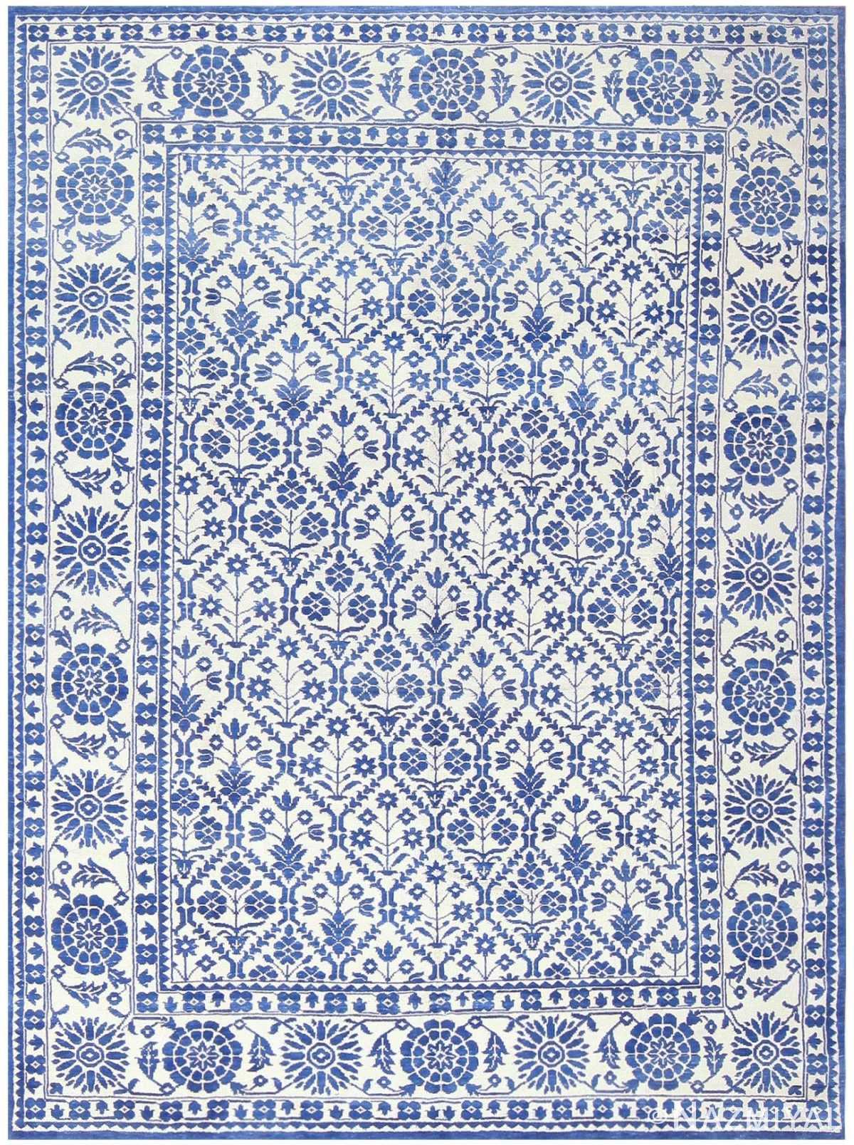 Vintage Indian Agra Cotton Rug 48300 Nazmiyal