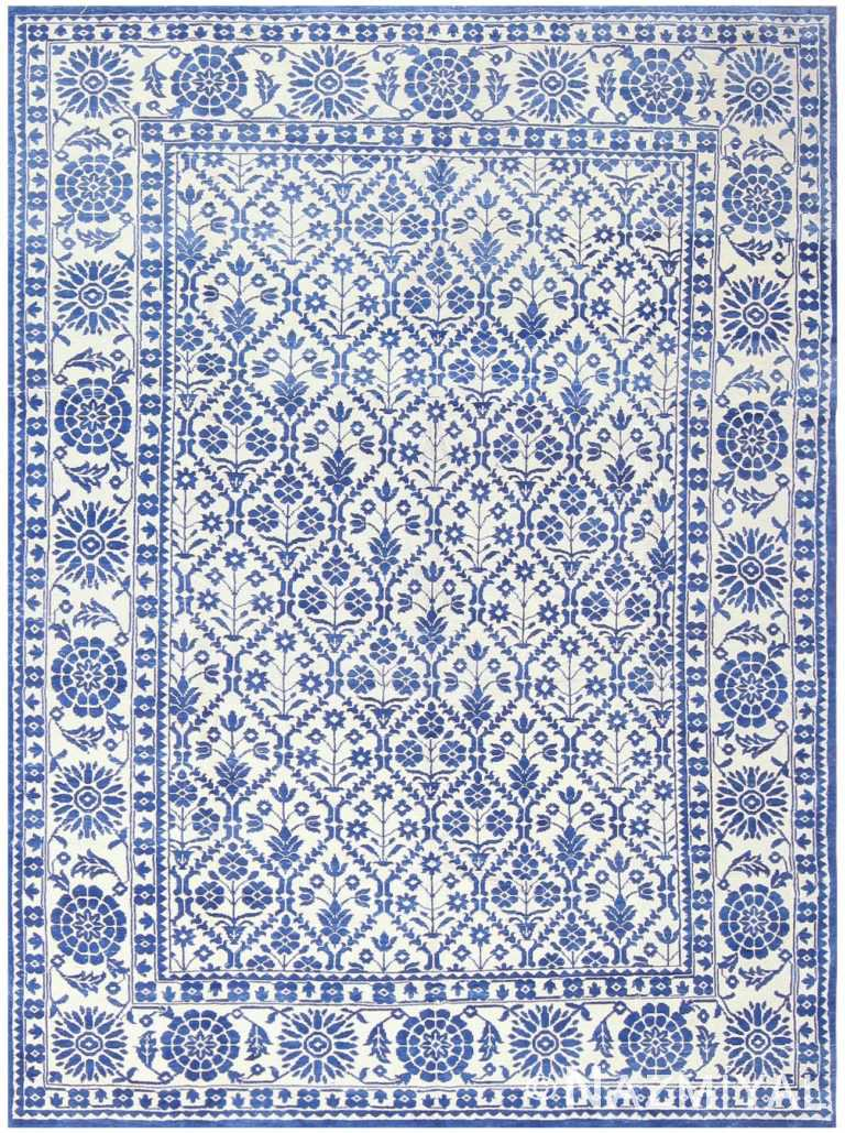 Vintage Indian Agra Cotton Rug 48300 Nazmiyal