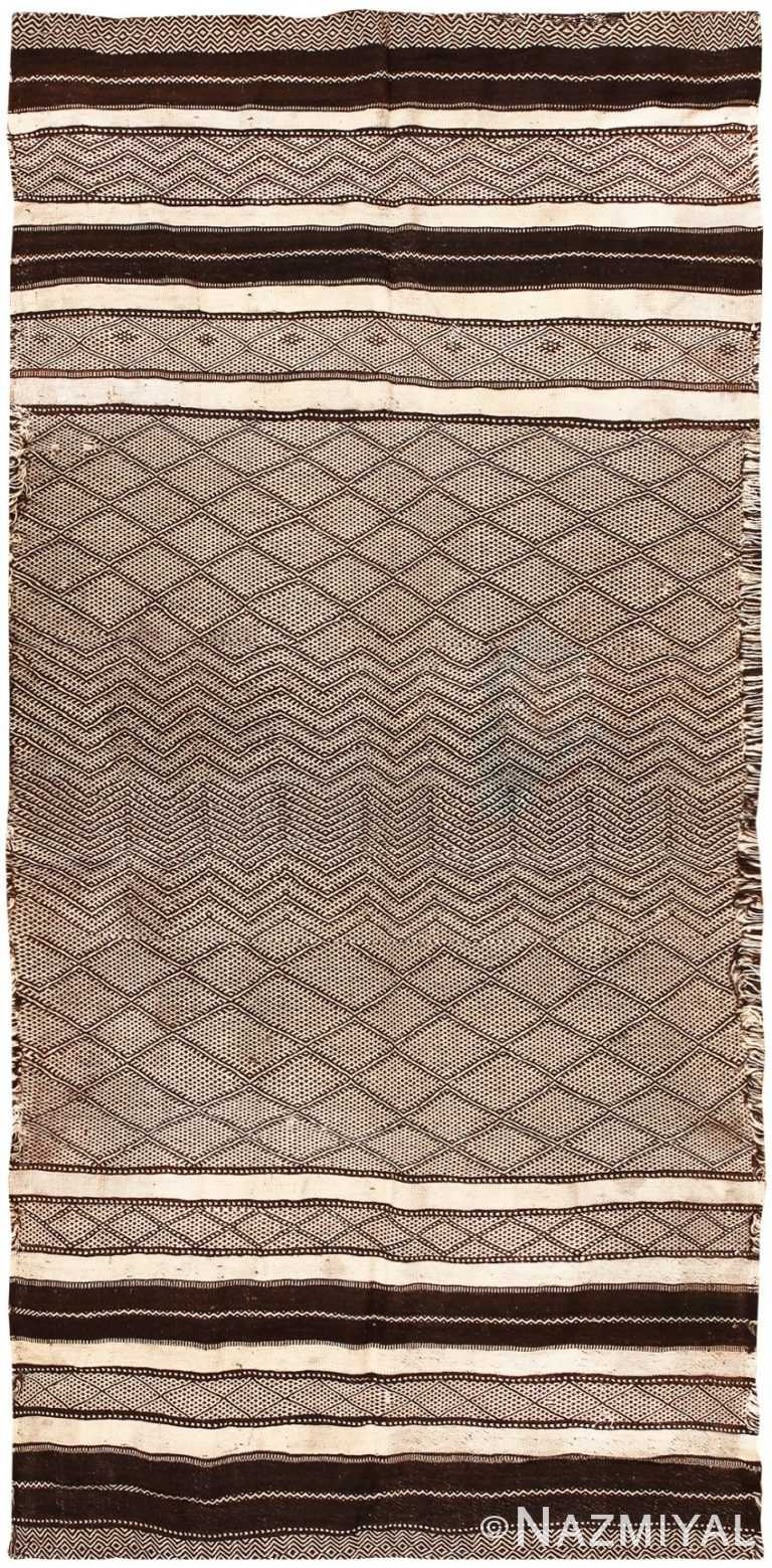 Flat Woven Vintage Moroccan Kilim Rug #46440 by Nazmiyal Antique Rugs