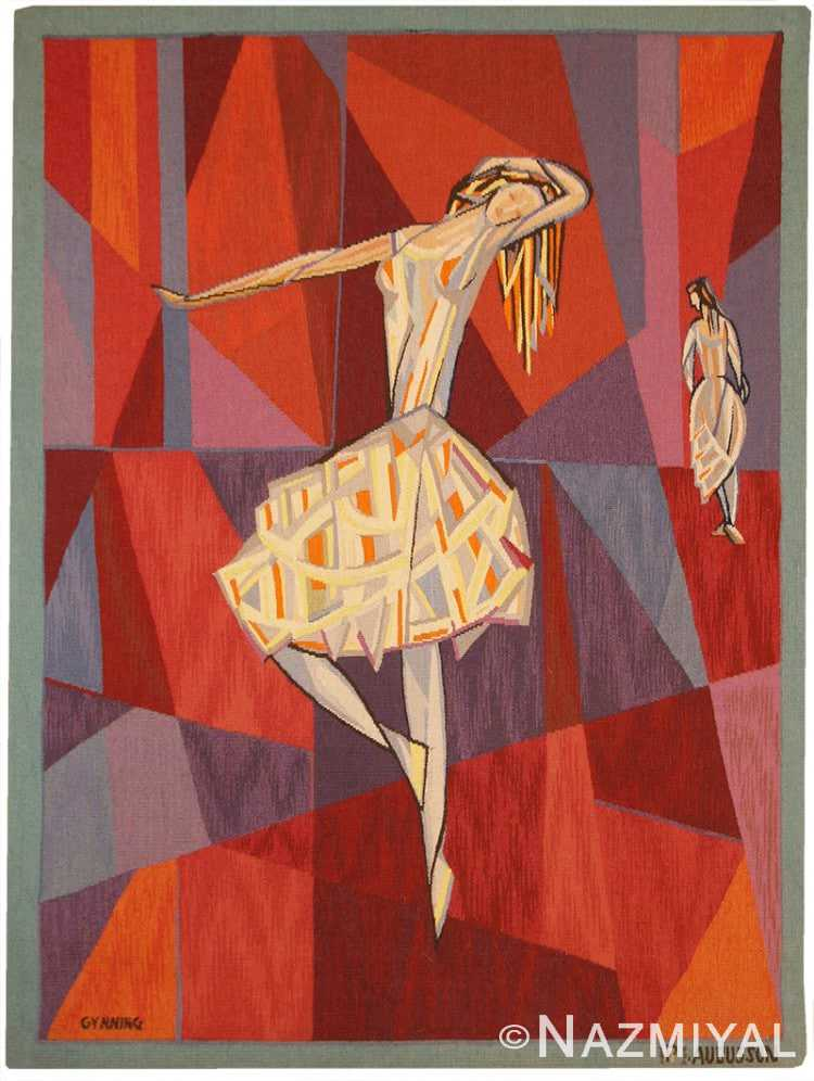 """Vintage French """"The Dance"""" Tapestry by Lars Gynning 48258 from Nazmiyal Antique Rugs in NYC"""
