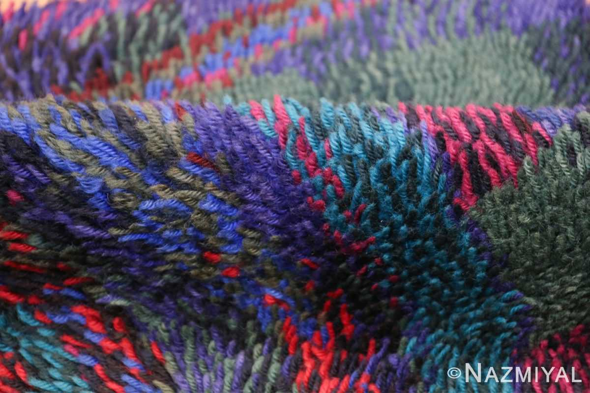 Vintage Scandinavian Rya Rug by Ritva Puotila 48288 Colorful Pile Nazmiyal