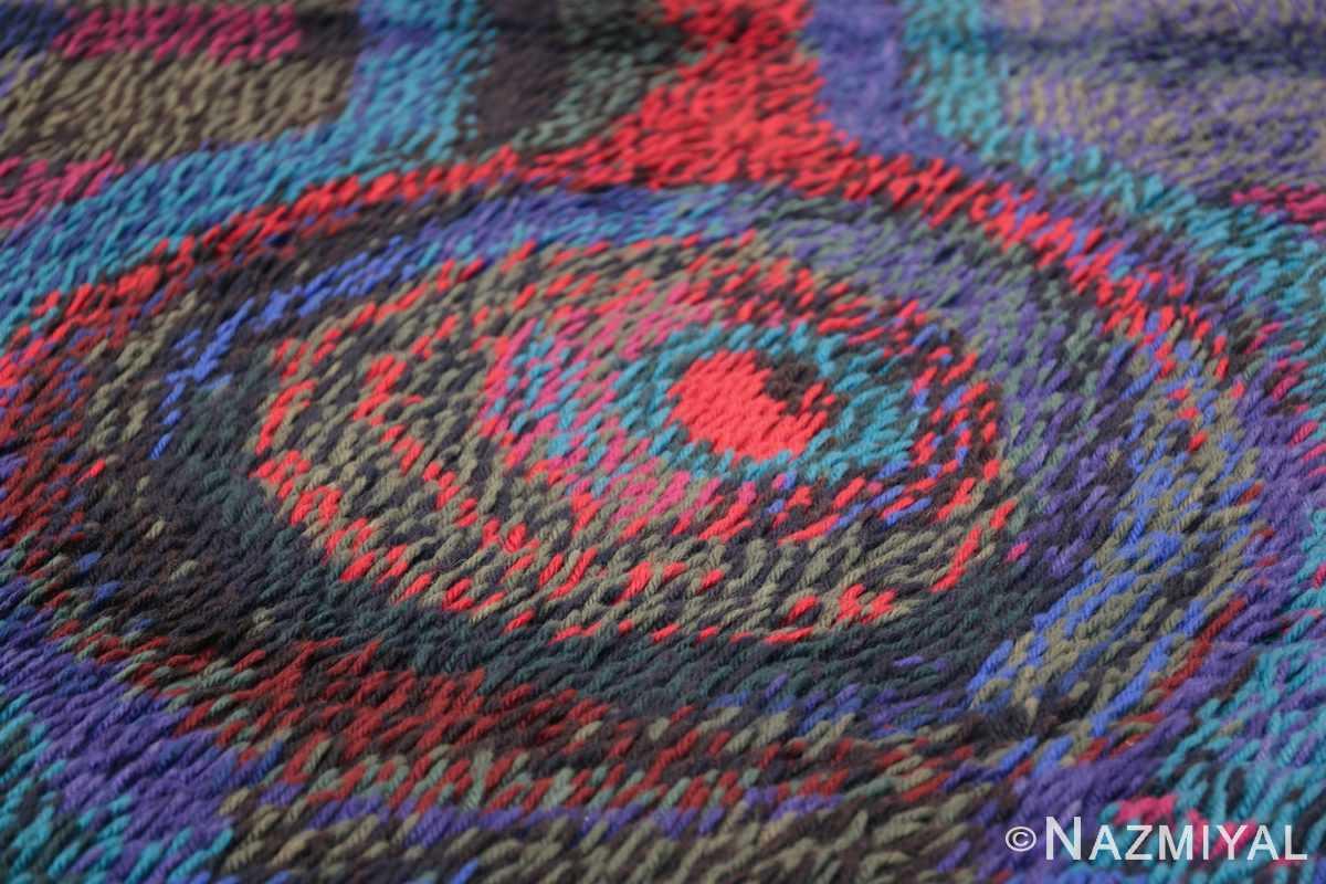Vintage Scandinavian Rya Rug by Ritva Puotila 48288 Inner Circle Nazmiyal
