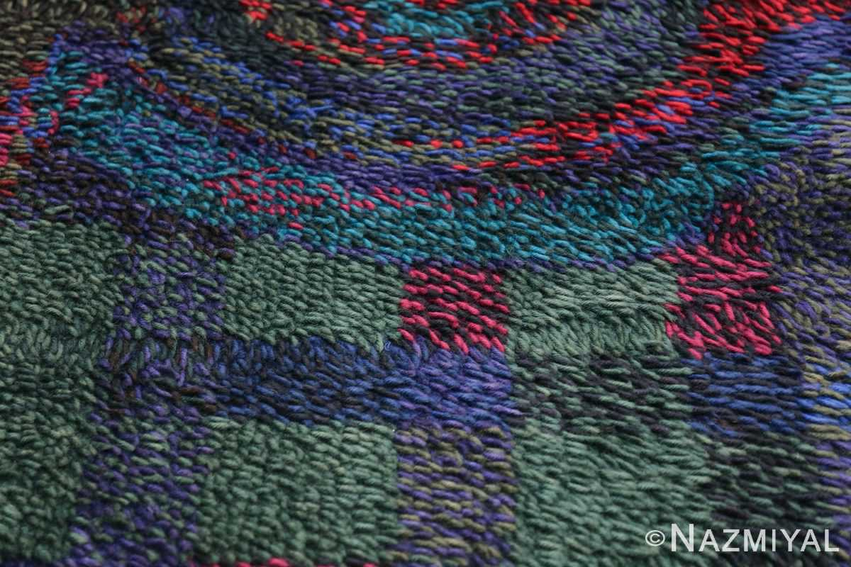 Vintage Scandinavian Rya Rug by Ritva Puotila 48288 Rows of Squares Nazmiyal