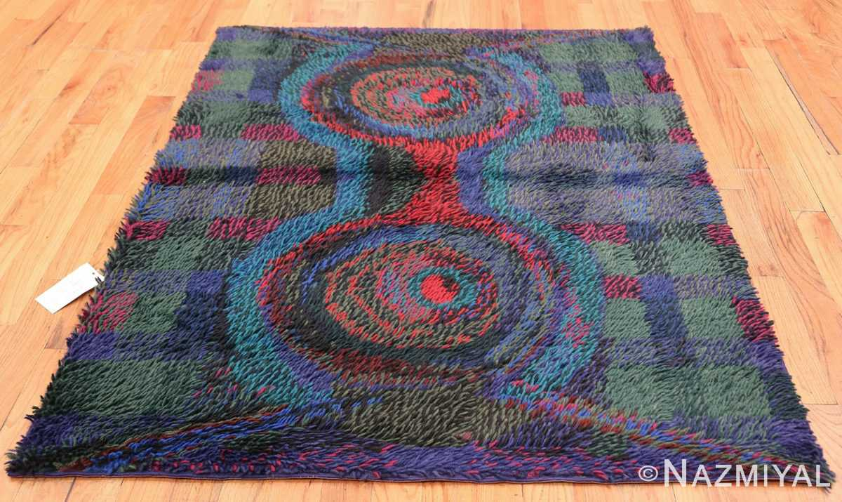 Vintage Scandinavian Rya Rug by Ritva Puotila 48288 Whole Design Nazmiyal