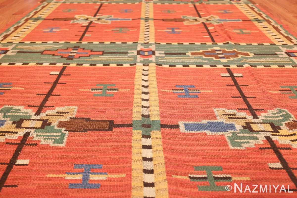 vintage scandinavian swedish kilim 48238 field Nazmiyal