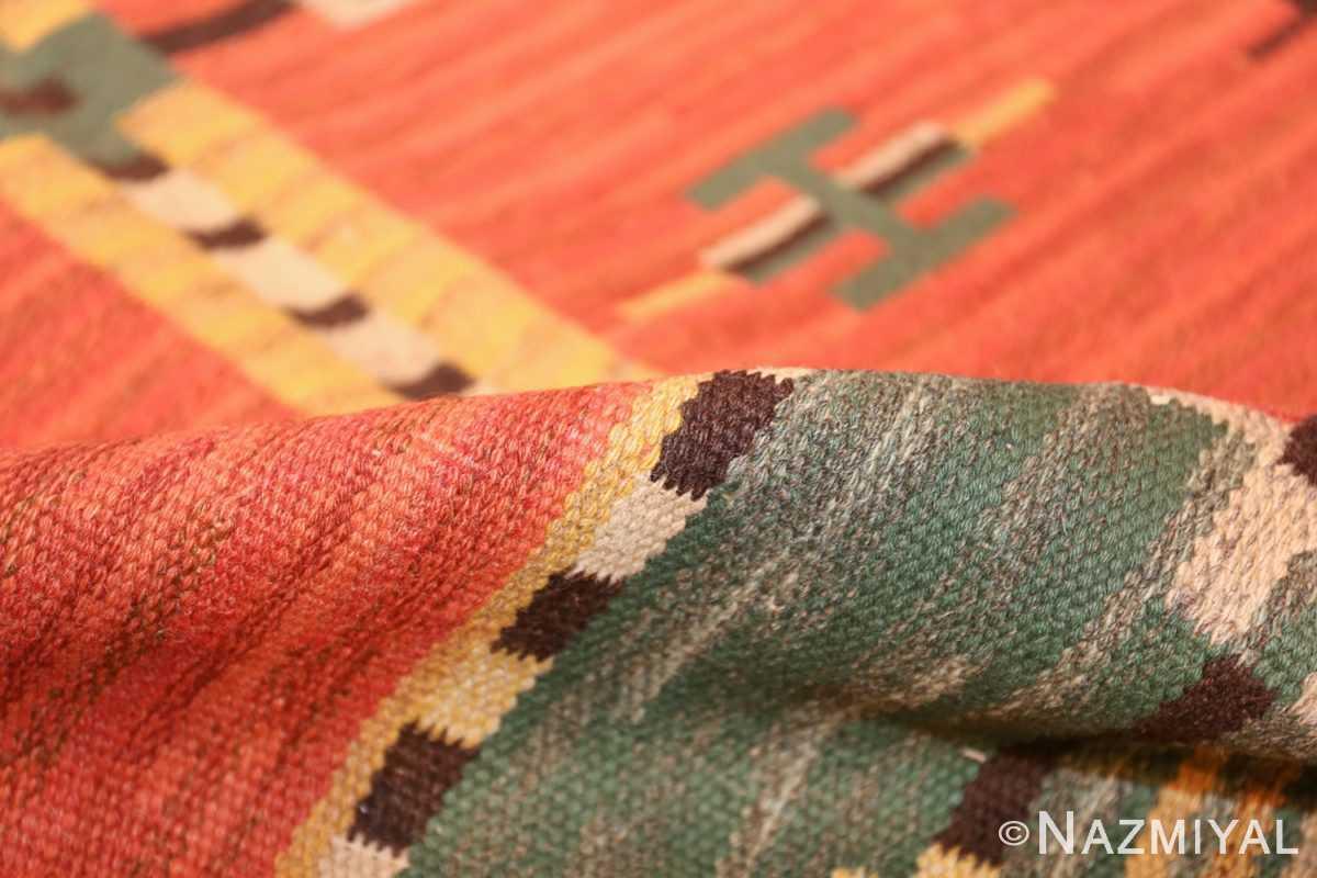 vintage scandinavian swedish kilim 48238 pile Nazmiyal