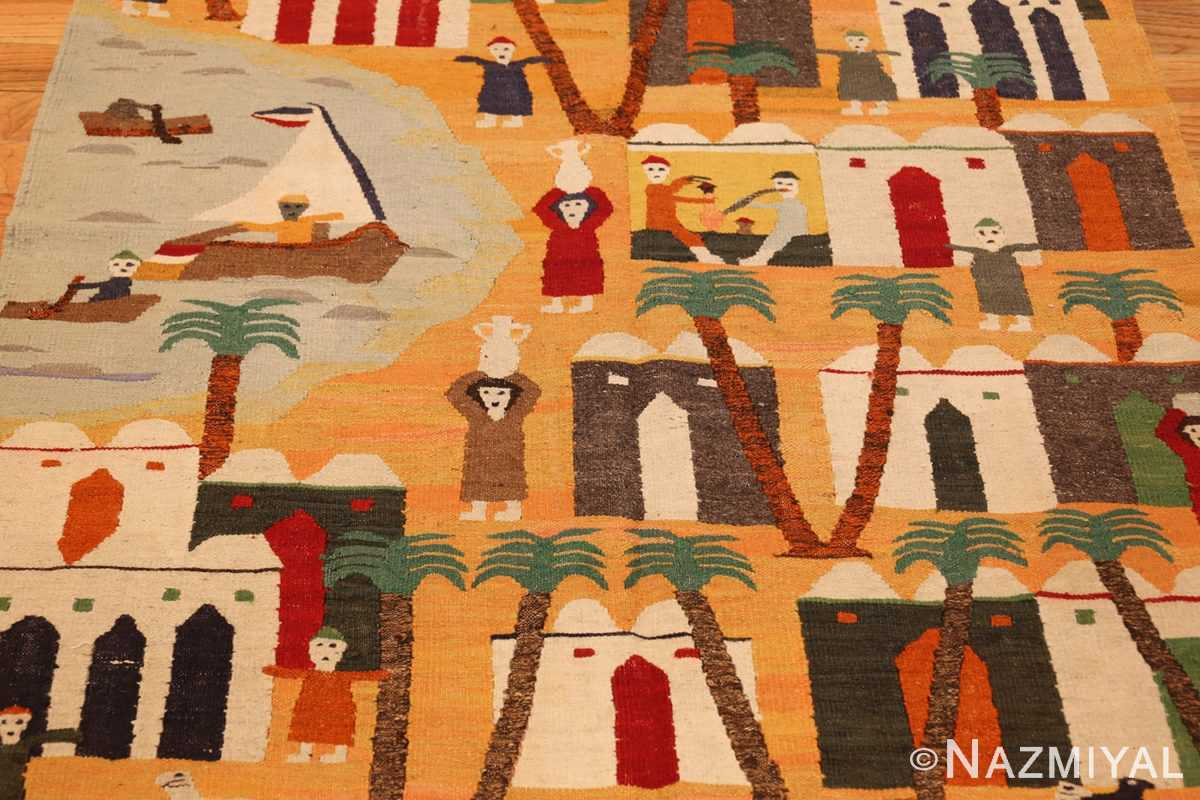 vintage swedish folk art tapestry 48251 full Nazmiyal