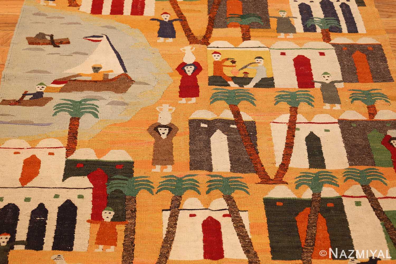 vintage swedish folk art tapestry 48251 full Nazmiyal