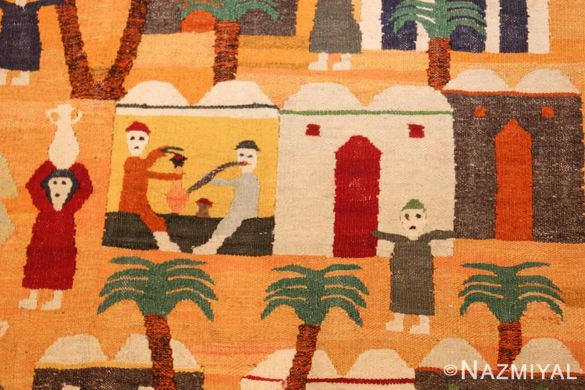 vintage swedish folk art tapestry 48251 pipe Nazmiyal
