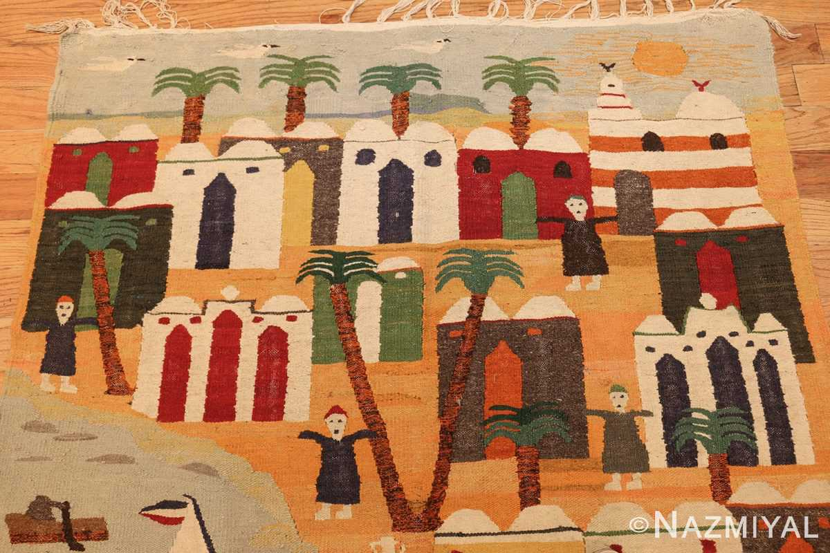 vintage swedish folk art tapestry 48251 top Nazmiyal