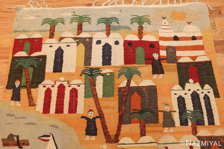 vintage swedish folk art tapestry 48251 top Nazmiyal