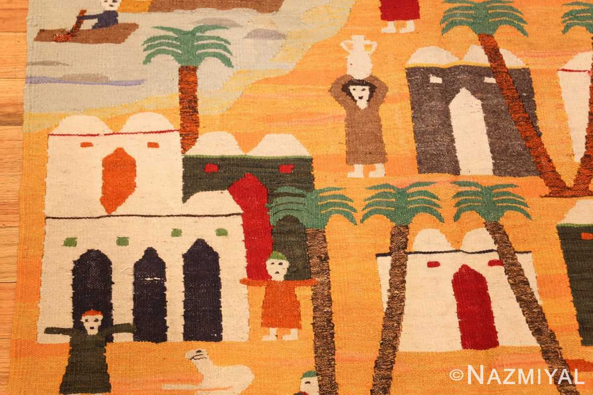 vintage swedish folk art tapestry 48251 vase Nazmiyal