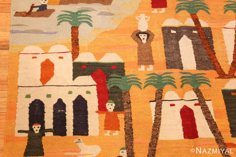 vintage swedish folk art tapestry 48251 vase Nazmiyal