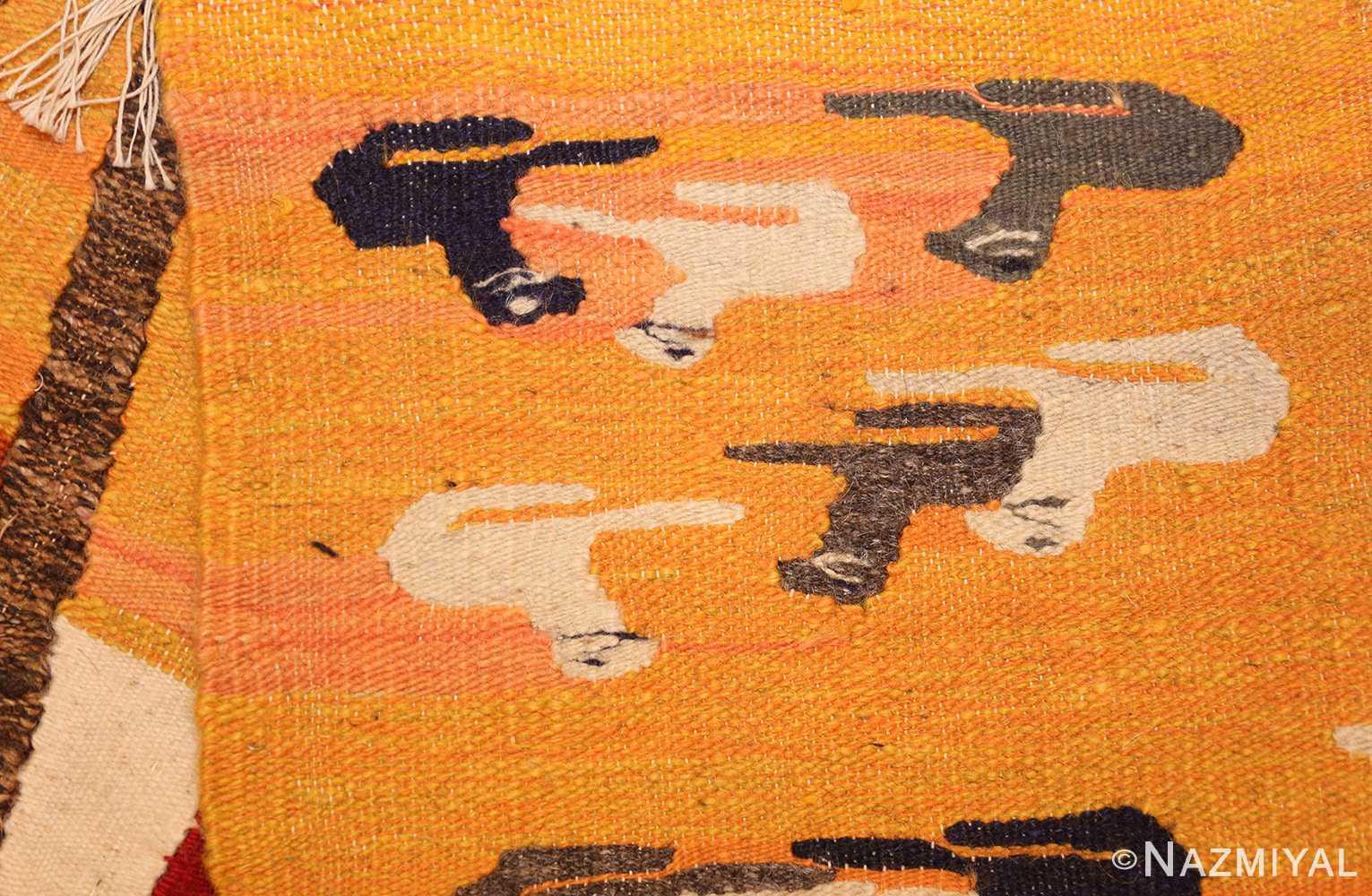 vintage swedish folk art tapestry 48251 weave Nazmiyal