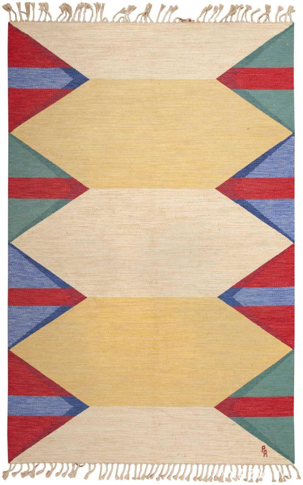 Vintage Swedish Kilim 46101 Detail/Large View