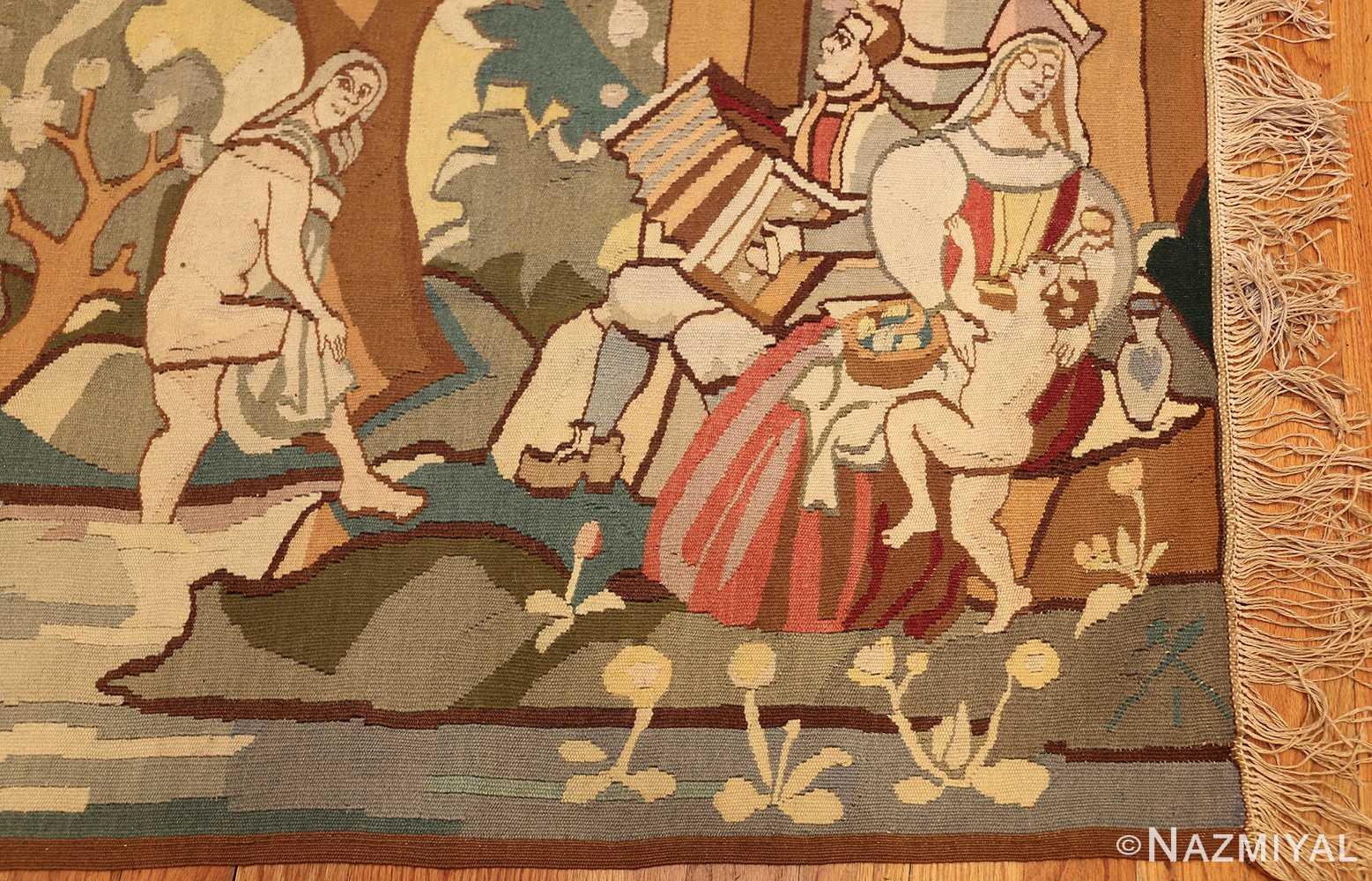 vintage swedish tapestry 48283 corner Nazmiyal