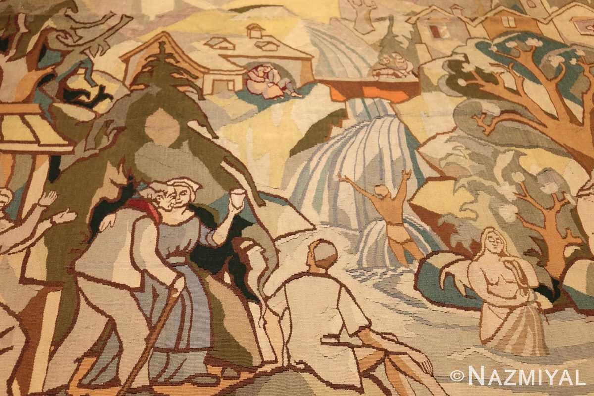 vintage swedish tapestry 48283 field Nazmiyal