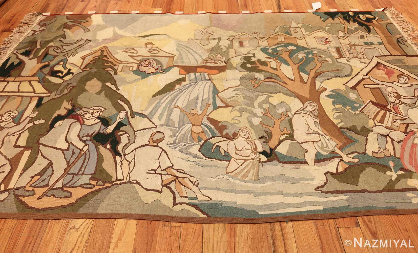 vintage swedish tapestry 48283 horizontal Nazmiyal