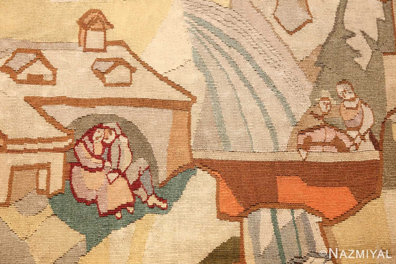 vintage swedish tapestry 48283 lovers Nazmiyal
